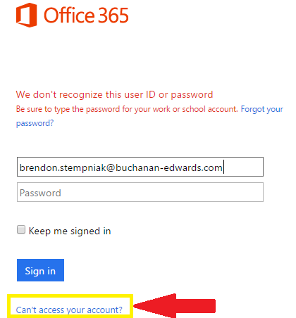 Resetting Your Office 365 (Outlook, Skype, OneDrive etc ) Password